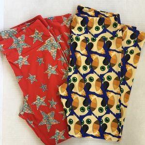 LULA ROE leggings 2 pairs, OS